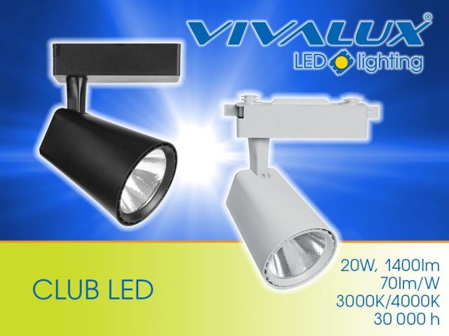 Projectors for track lighting series CLUB LED and TRANCE LED
