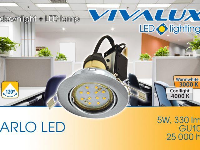 ARLO LED SET - комплект луна за вграждане   5W GU10 LED лампа