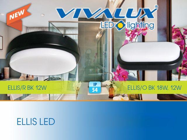 Влагозащитени плафониери с черен корпус ELLIS LED