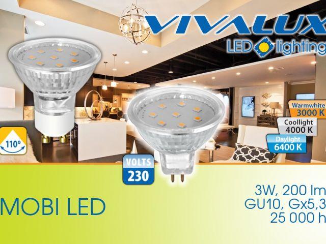 Нова серия 3W насочени лампи MOBI LED VIVALUX