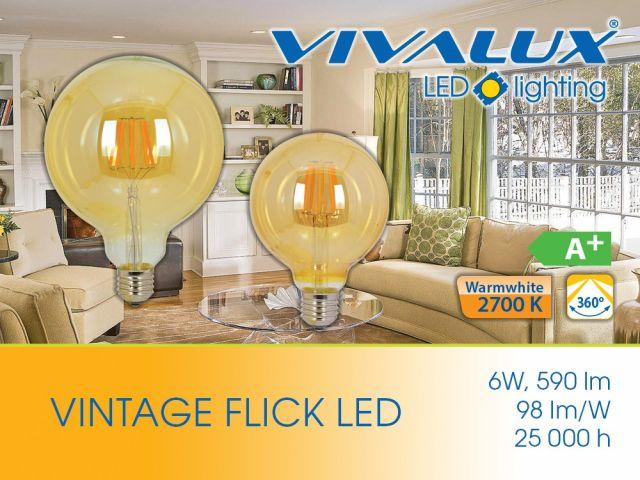 Vintage filament lamps FLICK VINTAGE LED