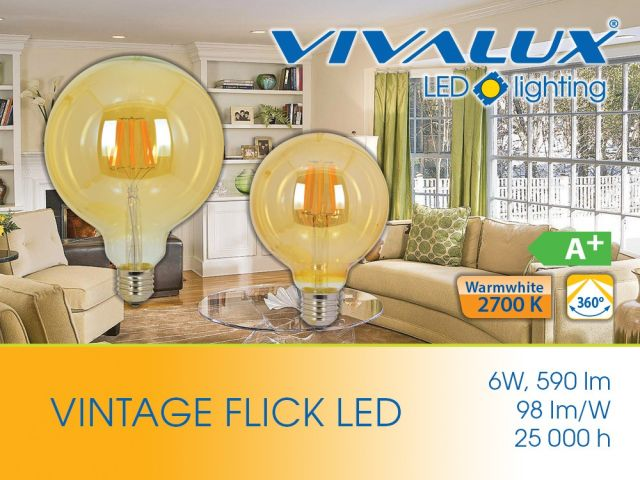 Винтидж филамент лампи FLICK VINTAGE LED