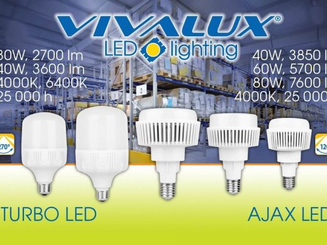 Ново поколение най-мощни и високоефективни LED лампи