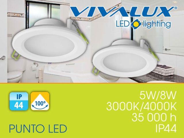 Влагозащитени LED луни за вграждане със степен на защита IP44 - PUNTO LED 5W, 8W