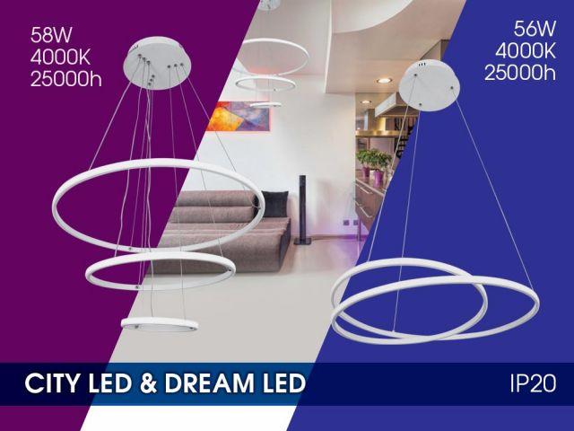 Нови LED полилеи CITY LED и DREAM LED