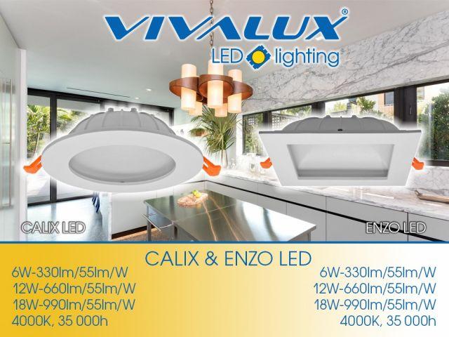 Луни с индиректна светлина CALIX LED и ENZO LED