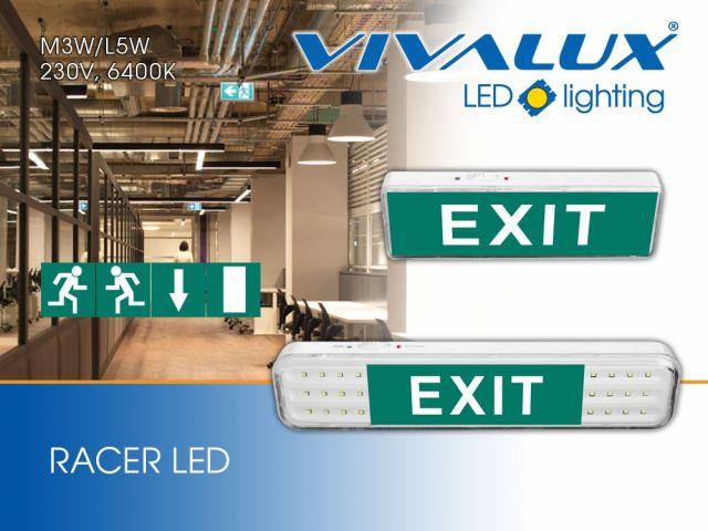 Серия аварийни осветителни тела RACER LED
