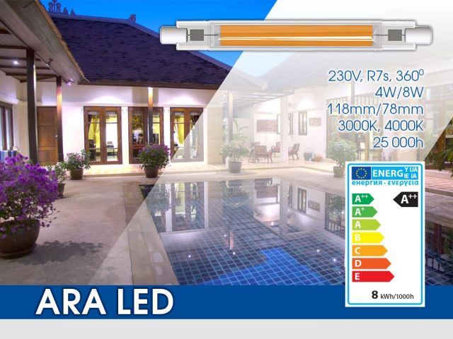 Нови LED лампи серия ARA LED R7s