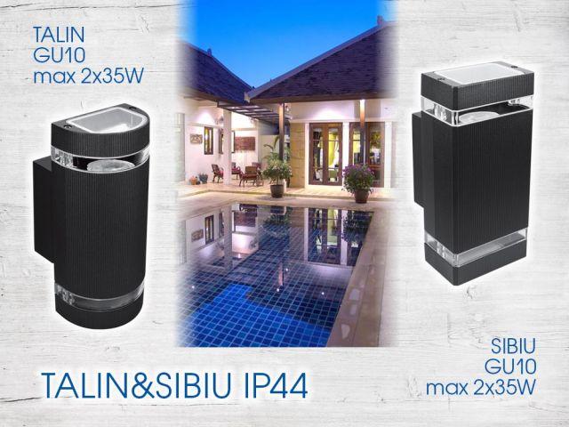 Light accents with facade lighting fixtures TALIN and SIBIU
