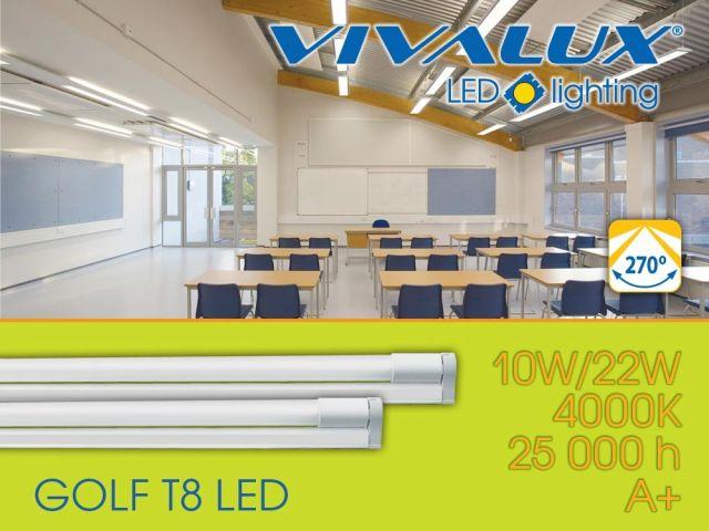 Multifunctional LED lighting fixture GOLF T8 VIVALUX