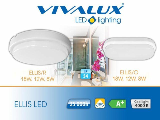 Най-компактните влагозащитени плафониери ЕLLIS LED IP54 VIVALUX