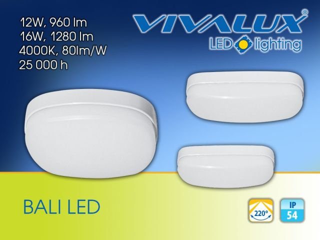 Compact waterproof ceiling fixtures BALI LED IP54