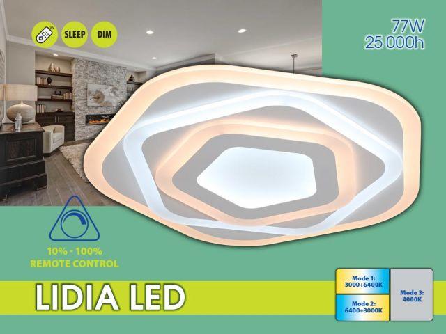 Мултифункционална декоративна LED плафониера LIDIA LED