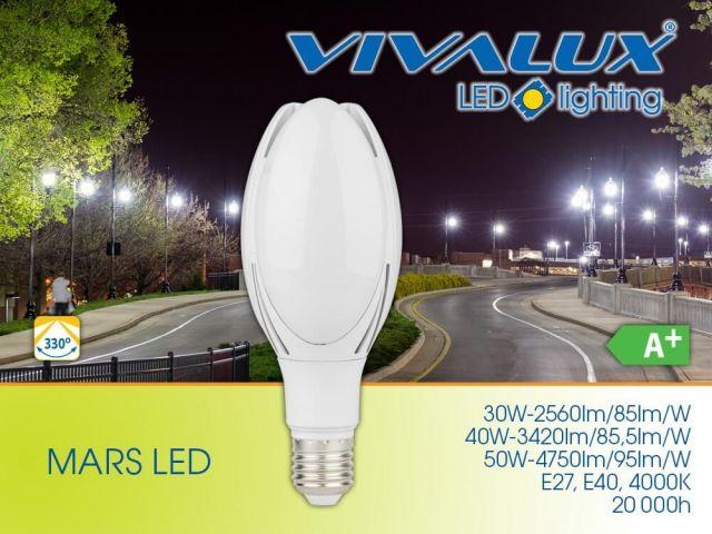 Нова серия мощни LED лампи MARS LED Vivalux