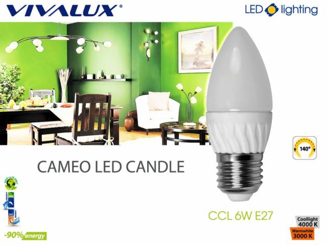 New LED lamp series CAMEO LED CANDLE E27