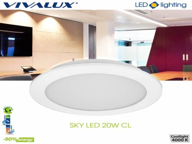 LED downlight SKY LED 20W 1800 lm – stylish and energy efficient solution