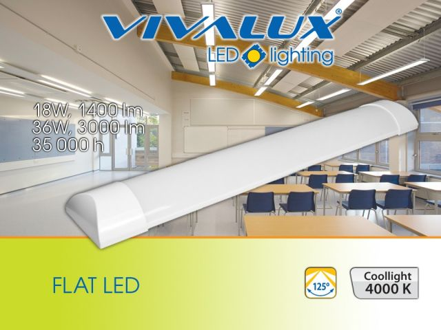 New LED lighting fixtures FLAT VIVALUX