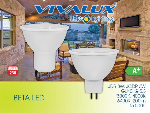 Икономична серия насочени LED лампи BETA LED 3W