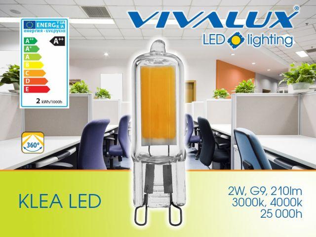 Стъклена LED лампа KLEA LED G9