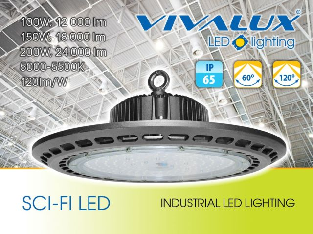 Industrial lighting fixtures SCI-FI LED