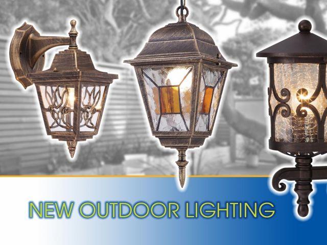 Color accents in outdoor lighting with lanterns JARDIN, MURANO, SOFIA, VIENNA, LYON, MARIBOR, TOSCA and RIGA
