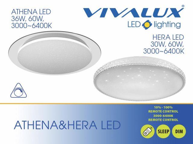 Multifunctional ceiling fixtures ATHENA LED and HERA LED