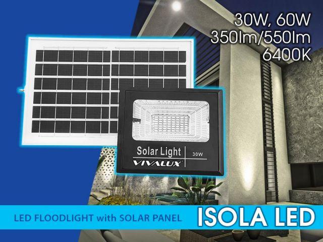 Серия соларни LED прожектори ISOLA LED