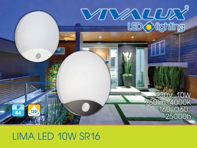 LED аплик със сензор за движение LIMA LED 10W SR16