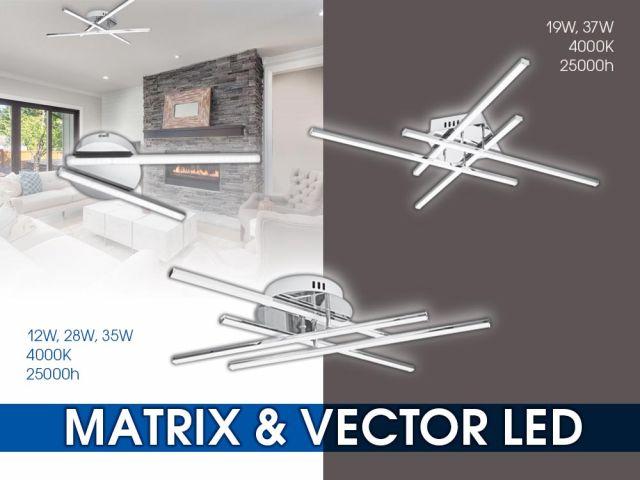 Модерни LED осветителни тела VECTOR LED и MATRIX LED