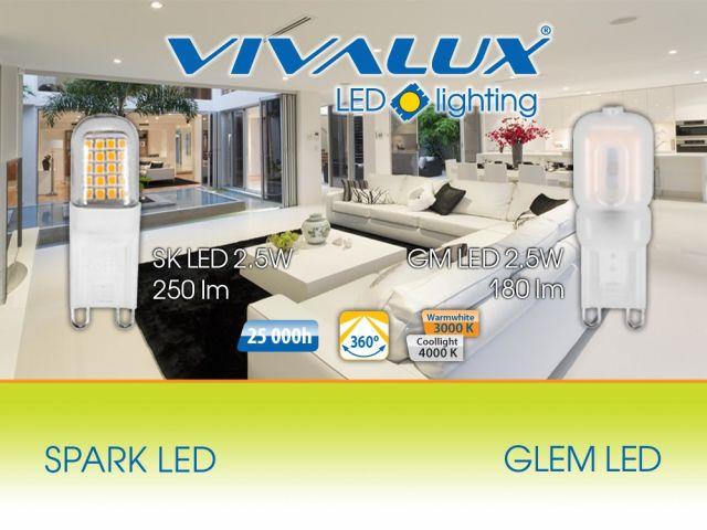 Висока ефективност и нисък разход на електроенергия с новите G9 лампи VIVALUX