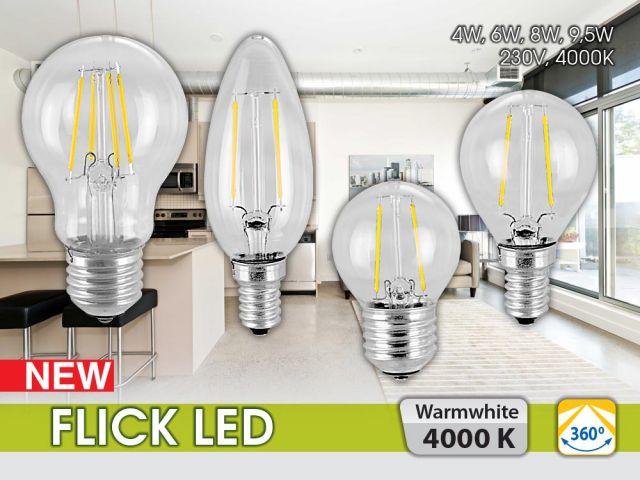 Нови филамент LED лампи в серията FLICK LED