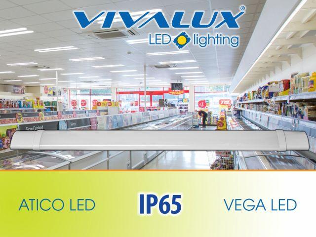 Влагозащитени LED осветителни тела ATICO и VEGA LED Vivalux