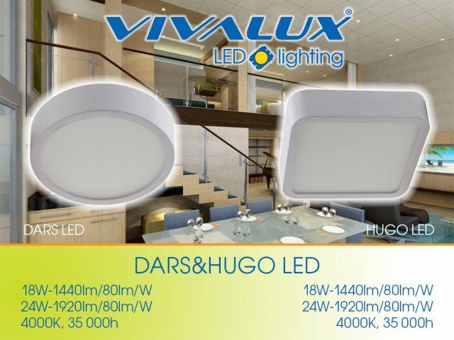 LED осветителни тела за външен монтаж DARS LED и HUGO LED
