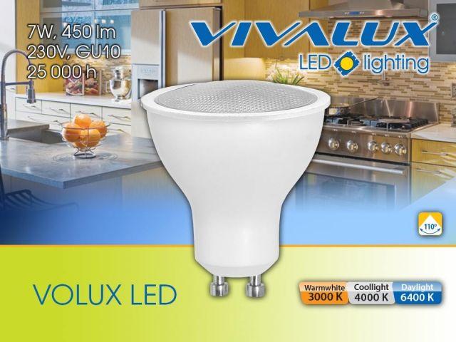 Нова цветна температура 4000К LED лампи VOLUX LED 7W