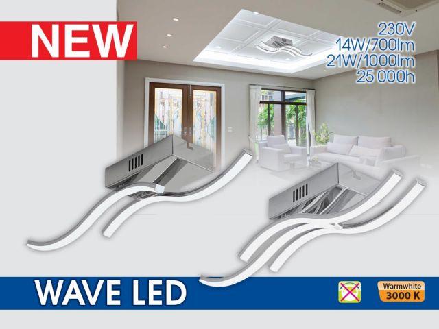 Декоративни LED осветителни тела WAVE LED