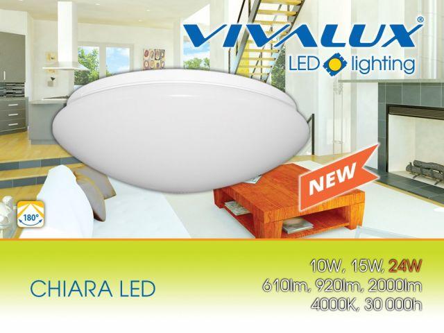 New! LED ceiling fixture CHIARA LED 24W
