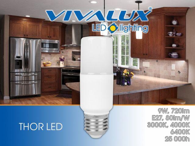 Нова компактна LED лампа THOR LED 9W Vivalux