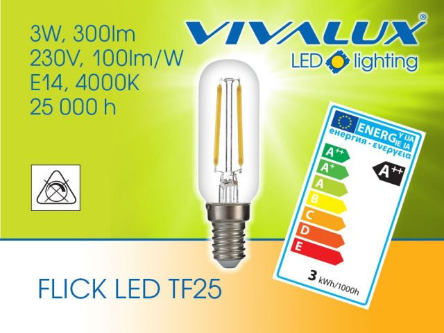 Осветление за аспиратори с TF25 3W E14 FLICK LED