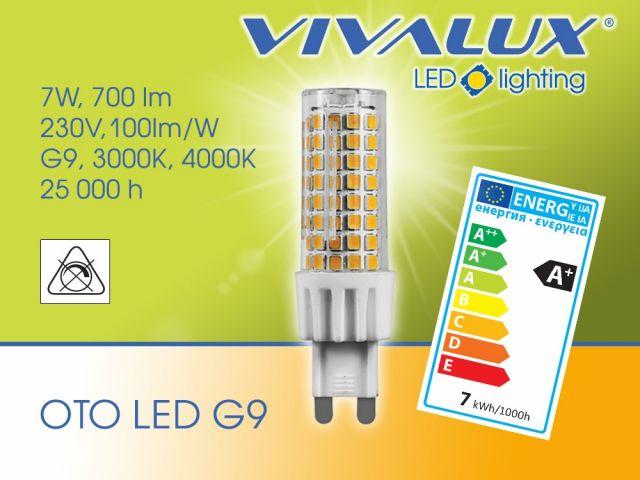 Powerful LED lamp OTO LED G9 VIVALUX