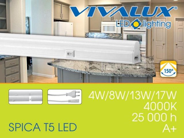 SPICA T5 LED VIVALUX - replace lighting fixtures working with T5 fluorescent lamps