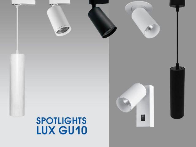 Серия спотове с различен начин на монтаж LUX GU10