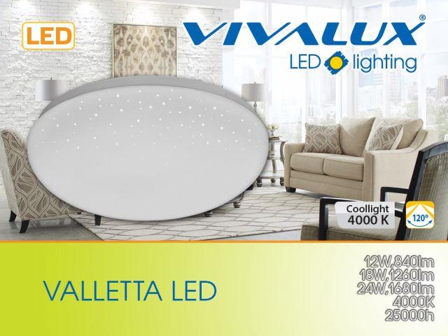 Декоративна плафониера VALLETTA LED
