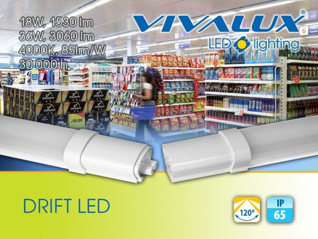 Waterproof lighting fixtures for direct connection DRIFT LED