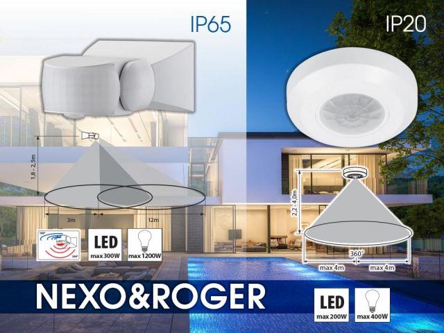Нови сензори за движение ROGER SR36 и NEXO SR36