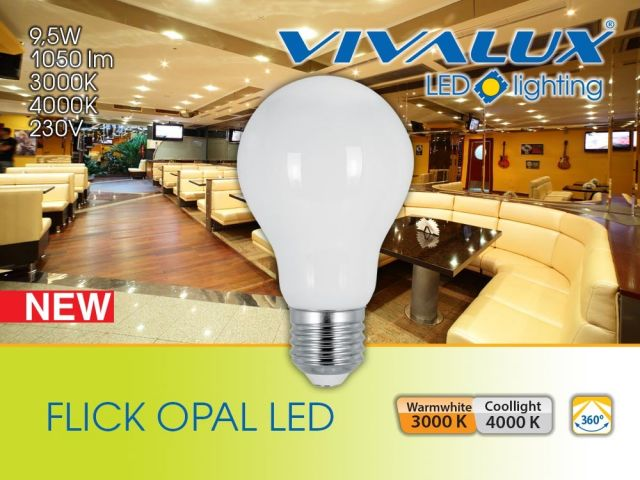 More powerful and more efficient LED filament lamps FLICK LED and FLICK OPAL LED