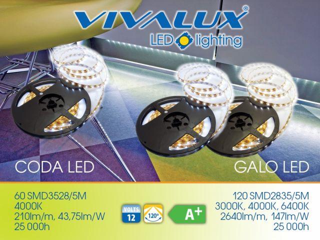Нови LED ленти VIVALUX - GALO LED/CODA LED