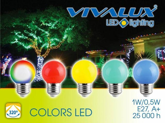 Икономични цветни LED лампи VIVALUX