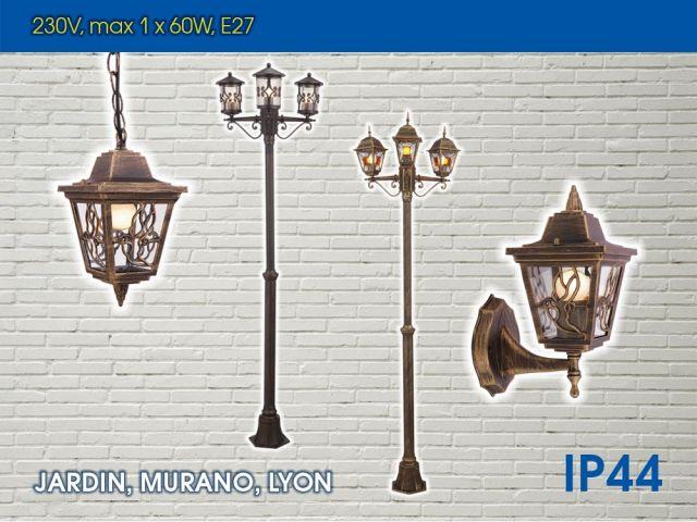 Нови възможности за осветление в сериите LYON, JARDIN и MURANO