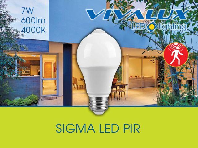 SIGMA LED PIR - LED лампа с инфрачервен сензор за движение
