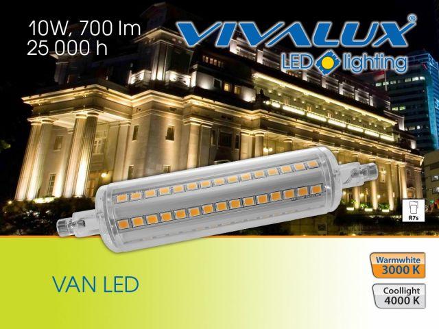 Нови LED лампи VAN LED 10W R7s